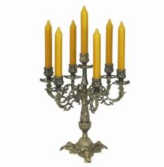 Kerzenleuchter 7 - Armig Tischleuchter Kerzenständer Messing - Optik Antik Barock