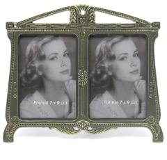 Frames frame metal Jugendstil 2 Photos Photo Frame Antique Duo