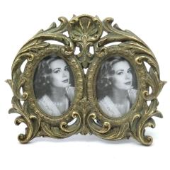 Bilderahmen 2 - Fach Fotorahmen Rahmen Barock- Stil Gold