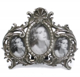 Picture Frames 3 - multiframe Oval Silver old - style