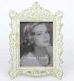 Picture frame Antique photo frame metal frame and white