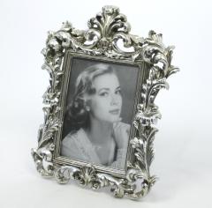 Bilderrahmen Fotorahmen Antik - Stil  Rahmen mit Echtglas Silber