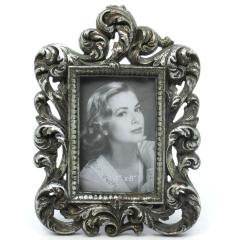 Bilderrahmen Fotorahmen Stand - Rahmen Barock Galerie Foto Silber