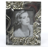 Photo Frame Real glass antique - style frame silver