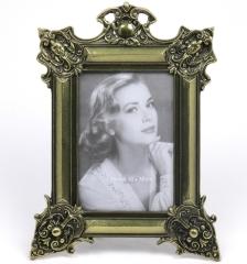 Fotorahmen Bilderrahmen Metall Barock Rokoko Foto Frame Messing Optik Antik