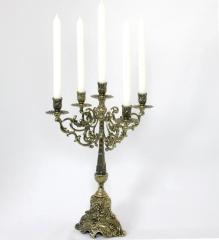Kerzenleuchter 5 - Armig Leuchter Metall Antik Barock verzierter Kerzenständer