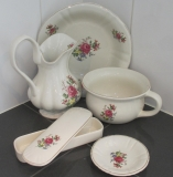 Wash set washing dishes antique sink basin pitcher soap dish potty