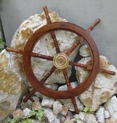 Ships steering Maritim boat pirate ship wheel Wood Brass