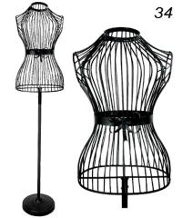 Decoration Mannequin dressmakers dummy metal coat stand bust torso Black