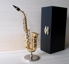 Altsaxophon Saxophon Miniatur Messing Deko Modell