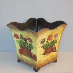 cachepot flowerpot plant pot Dry flowers Decoration cachepot with decor