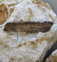 Briefschlitz Antik Briefklappe Briefeinwurf Jugendstil Bronzeoptik
