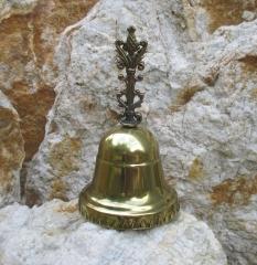 feine Handglocke Glocke Tischglocke Gold Glöckchen Hotel - Klingel Rezeption