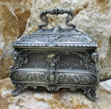 Baroque box jewelry box jewelry chest Chest Key Treasure Antique