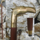 Cane cane with eagle head Brass walking stick 92 cm