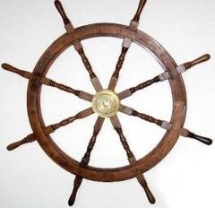 Schiffsteuerrad Steuerrad Barre Hartholz 110 cm