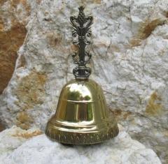 Tisch - Hotel - Tresen - Glocke festlich Glocke Handglocke Gold Weihnachtsglocke