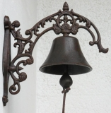 Doorbell cast iron antique bell Nouveau