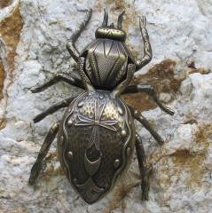 Aschenbecher Kreuzspinne XXL Spinne Bronze