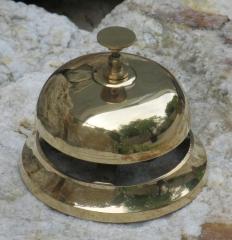 Empfangsglocke Tischglocke Hotel - Tresen - Glocke Rezeption Klingel Messingguss