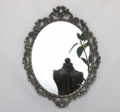 Wandspiegel oval veriert Deko - Spiegel Schmuck Spiegel Barock Antik