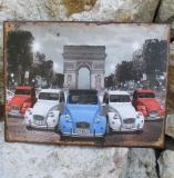 Tin Picture Tin Sign Metal Wall Auto Duck Paris Oldtimer