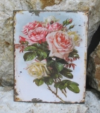 Tin Picture Tin Sign Metal Wall Sign rose Wildrose Kitchen Mural