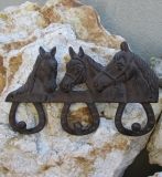 Wardrobe Wall Hooks Cast iron towel bar horse Horseshoe Cottage