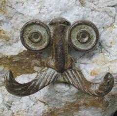 Garderobe Kleider Antik Wand Flur Mantel Haken Gusseisen Handtuch Eisen Gesicht