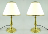 2 noble table lamps table lamps brass 35cm D-20 cm antique bedside lamp