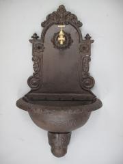 Wandbrunnen 80 cm Wandwaschbecken Antik Becken Braun Gusseisen