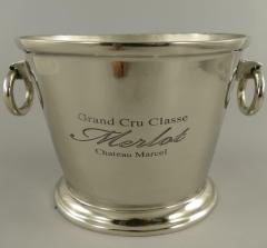 Sektkühler Merlot Champagner Eiseimer EDEL Antik Silber XXL 38x25x25 Weinkühler