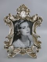 Barock Stehrahmen Bilderrahmen Silber Rahmen Gallerie Antik Fotorahmen 30 x 21 cm