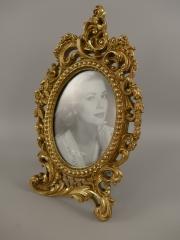 Barock Stehrahmen Bilderrahmen Gold Rahmen Gallerie Antik Fotorahmen 33 x 21 cm