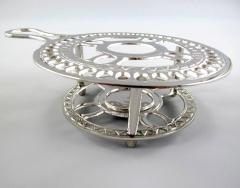 Stövchen Wärmeplatte Edel Silber Tisch Topfuntersetzer Antik Untersetzer Jugendstil