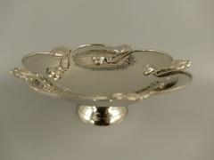 Anbietschale 27 cm Edel Schale Tischschale Silber Jugendstil Tischgedeck