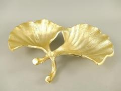 Anbietschale Blattschale Edel Schale Tischschale Gold Jugendstil Tischgedeck