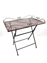 Beistelltisch Tisch Eisen Gartentisch Blumentisch Braun