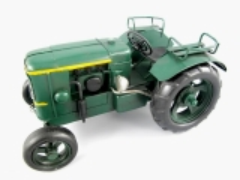 Blechmodell Old Traktor Antik Stil Grün Oldtimer 24 cm Bulldog
