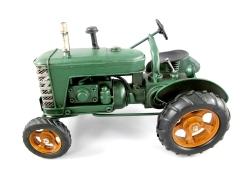Blechmodell Old Traktor Antik Stil Grün Seitenlenker Oldtimer 26 cm Bulldog