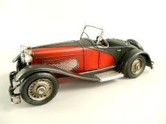 Blechauto Cabrio Oldtimer Antik Stil Rot/Schwarz 29 cm Modellauto Nostalgie