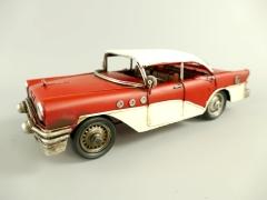 Blechauto Cadillac Oldtimer Antik Stil Rot/Weiss 29 cm Modellauto Nostalgie