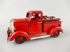 Blechauto Farmer Pickup Oldtimer Antik Stil Rot 17 cm Modellauto Nostalgie