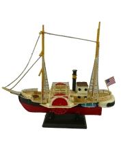 Blechschiff Schaufelraddampfer Oldtimer Antik Stil  22 cm Modellschiff Nostalgie