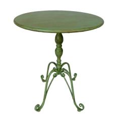 Beistelltisch Rund Tisch Eisen Gartentisch Blumentisch Grün