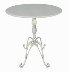 Beistelltisch Rund Tisch Eisen Gartentisch Blumentisch Weiss