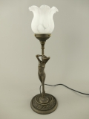 Tischlampe Stehlampe Jugendstil Messing Antik Tischleuchte Objektleuchte