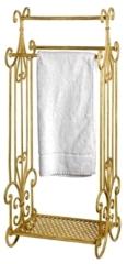 Towel holder antique iron towel rack cream white 242
