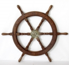 Schiffsteuerrad Maritim Steuerrad Barre Mahagoni Holz Pirat Schiff