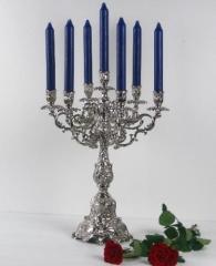 Prunkleuchter Kerzenleuchter Tischleuchter Kerzenständer Antik Barock Silber